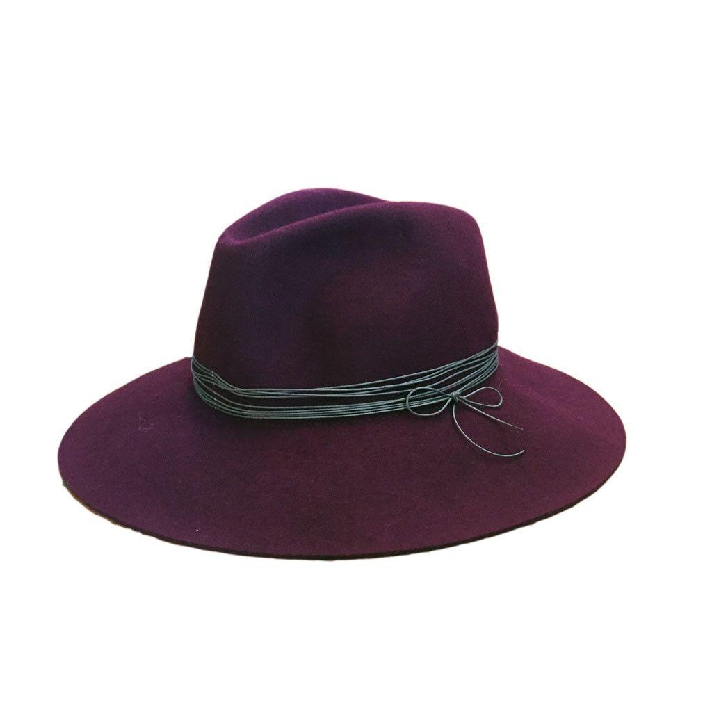 Artesano Burgundy/Grey Clasico Felt Hat - L