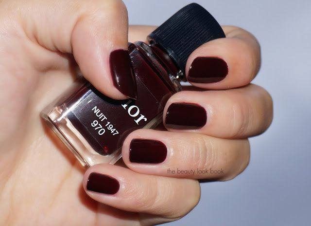 The Beauty Look Book Dior Vernis Nuit 1947 970 In 2019 Beauty Nail Polish Colors Nail Polish