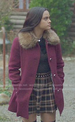 lt;3 Lodge Veronica's Collar Veronica Purple Fur Coat Riverdale On 8qTa8n