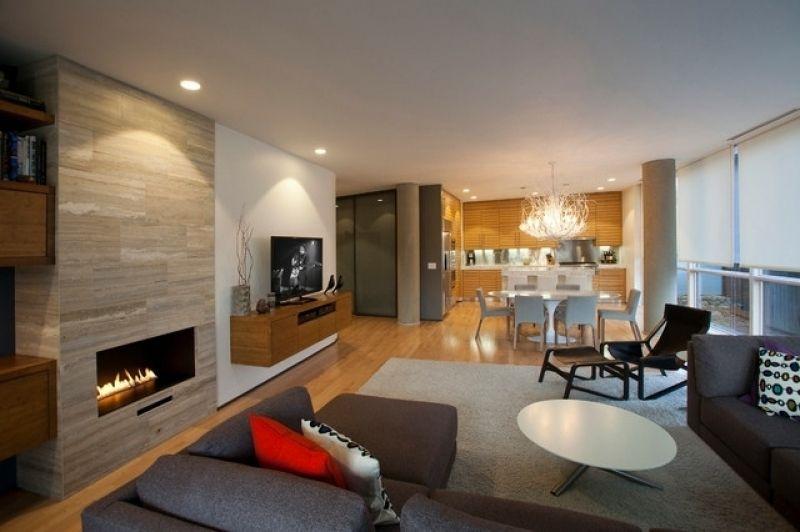 34 Ideen Fr Kamin Und Fernseher An Einer Wand Im Gesamten Wohnzimmer Mit Tv  Und Kamin