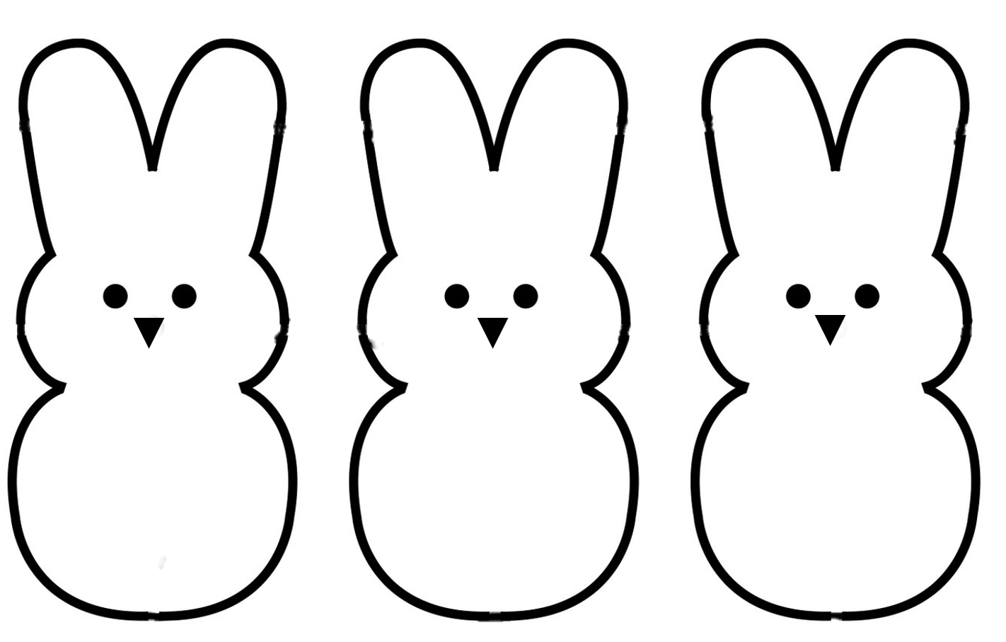 Bunny Clipart Outline Clipartfest Templates Pinterest