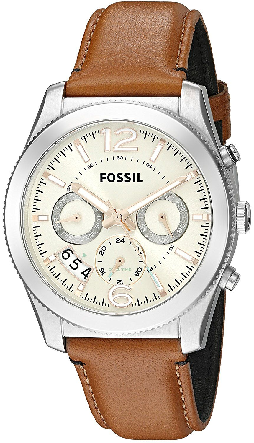 9437f736a6b Fossil Women s ES3932 Perfect Boyfriend Multifunction Dark Brown Leather  Watch -- Click on the image for additional details.