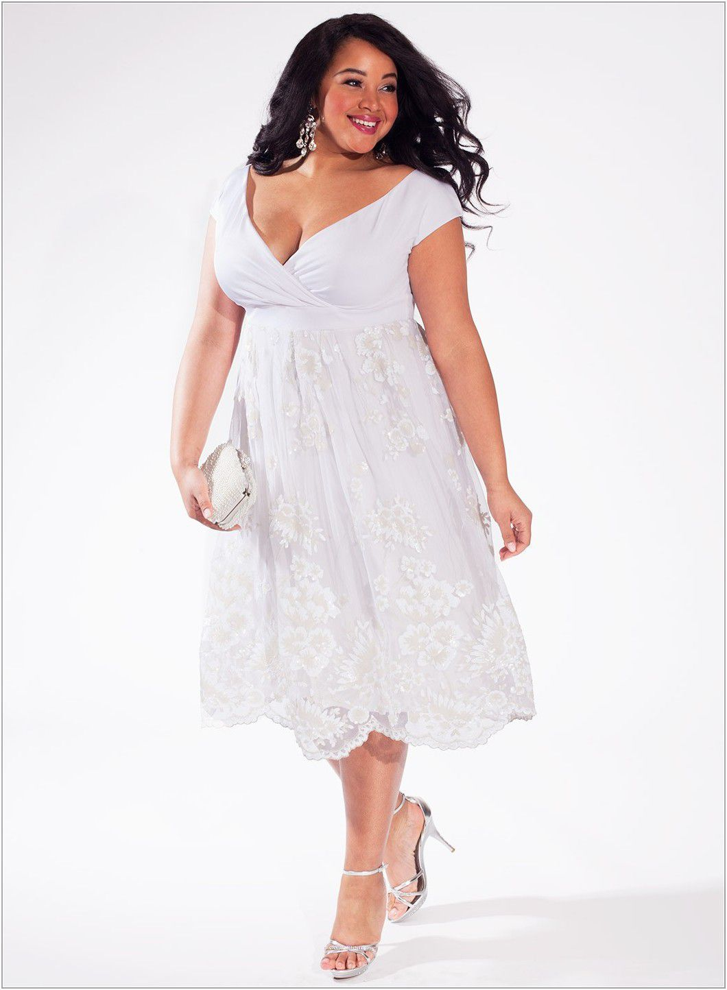 Plus Size White Lace Dress – Fashion dresses