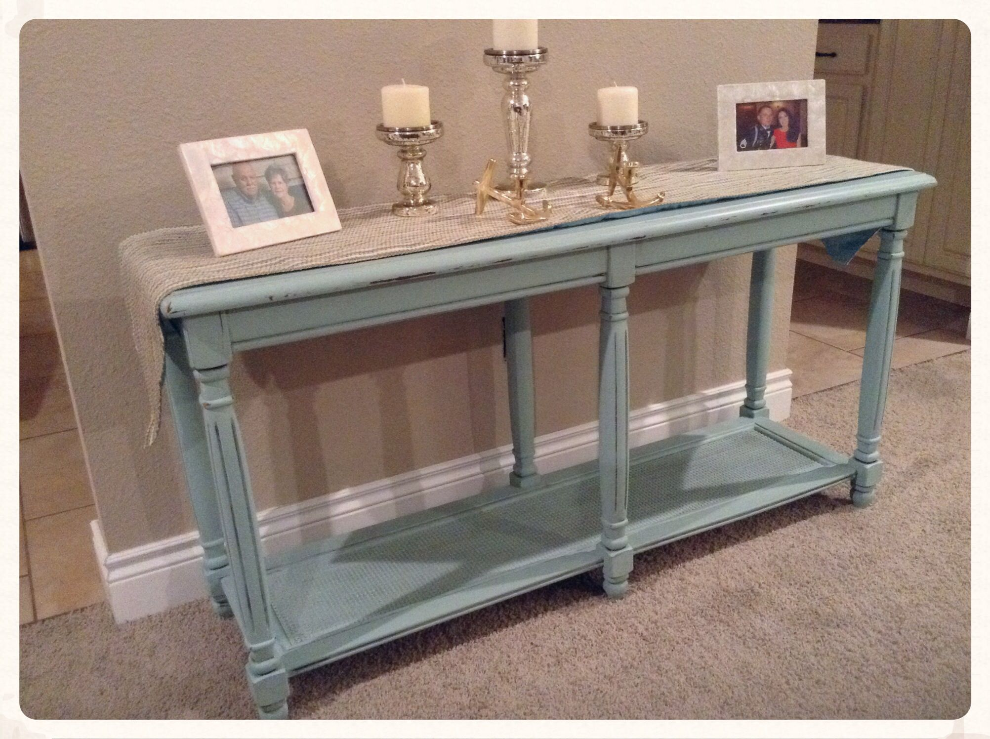 Sofa Table Light Blue Blue Painted Furniture Home Decor