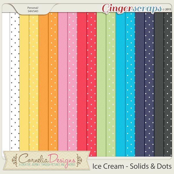 Ice Cream - Solids by Cornelia Designs
