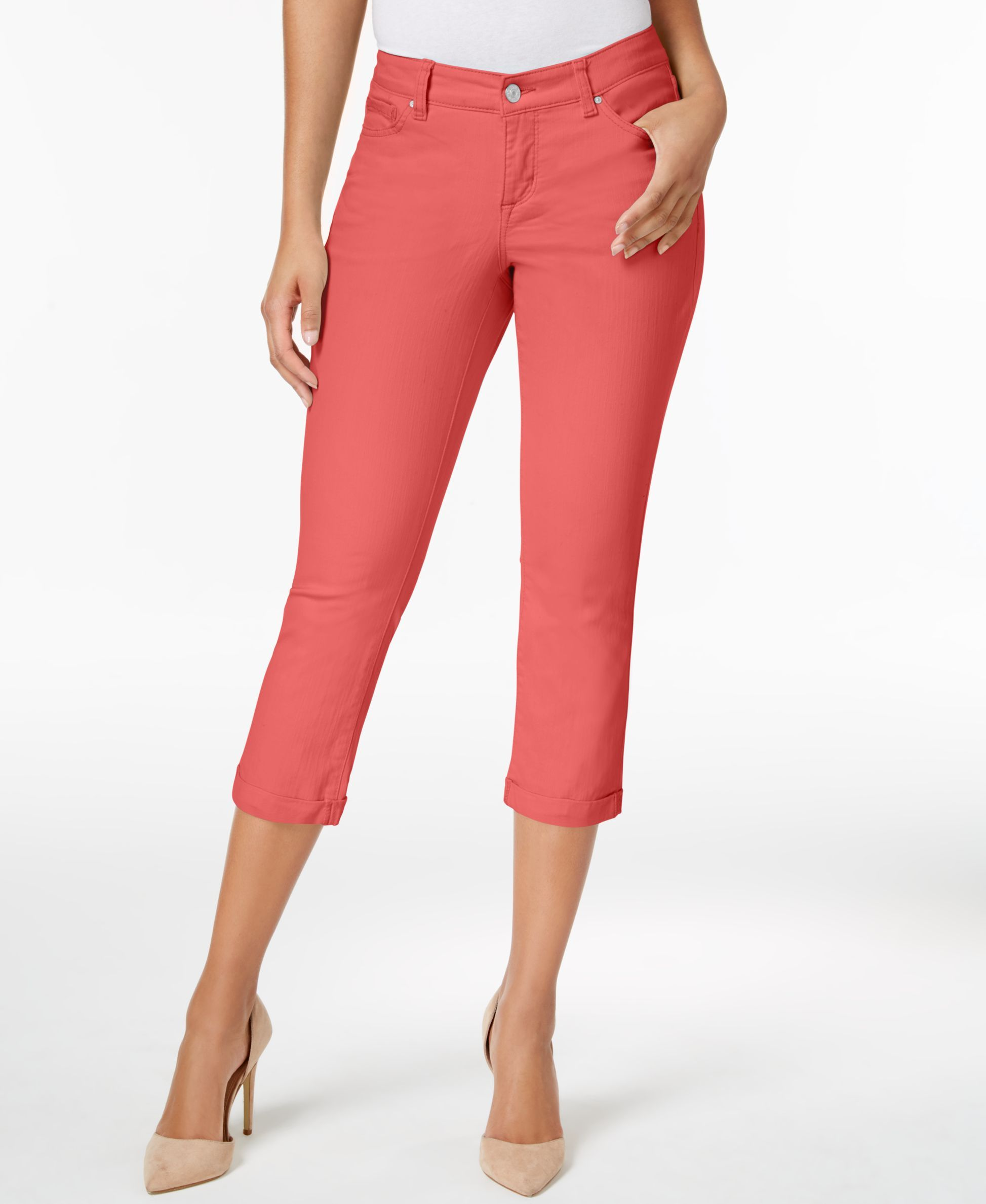 6f789642dec Vintage America Boho Colored Wash Cropped Jeans & Reviews - Jeans - Women -  Macy's