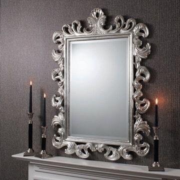 Silver Wall Mirrors Decorative.Decorative Silver Wall Mirror Ornate Silver Mirror