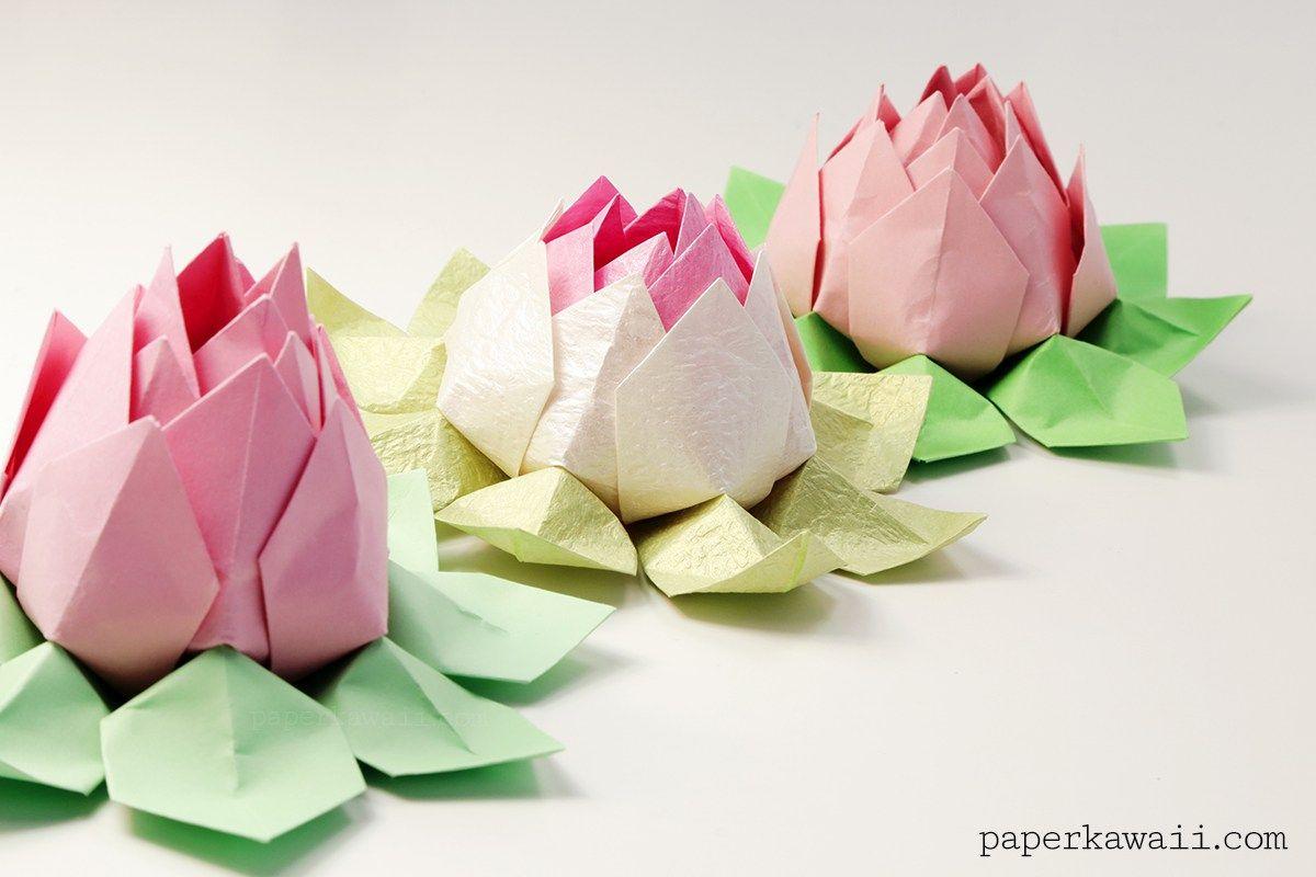 Modular origami lotus flower video tutorial modular origami origami paper mightylinksfo
