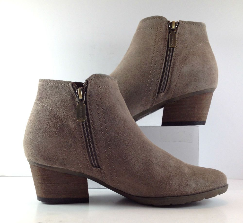 Blondo Gray Suede Valli Side Zip Ankle Booties Womens Size US 8.5M   eBay