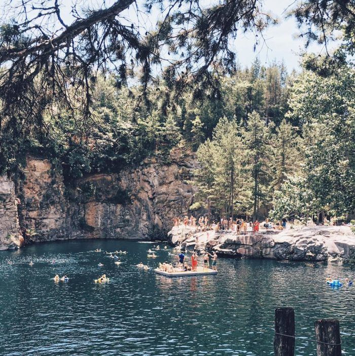 The Sapphire Quarry In North Carolina That 39 S Devastatingly Gorgeous Swim Day Trips And Farms