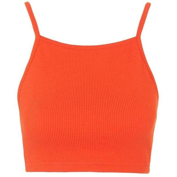 f682dbf715b663 PETITE Ribbed Crop Top - Topshop ❤ liked on Polyvore featuring tops ...