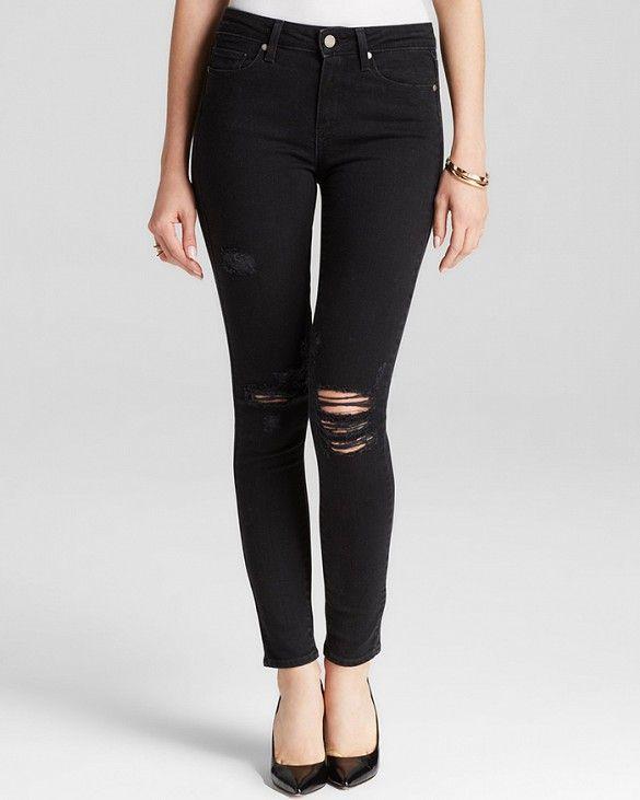 Paige Denim Bloomingdale's Exclusive Hoxton Ultra Skinny in Reva Destructed #Shopping #WWWDenimWeek