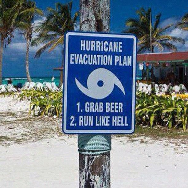 BEST hurricane evacuation /  preparedness plan EVER! Bring it on Sandy!!!