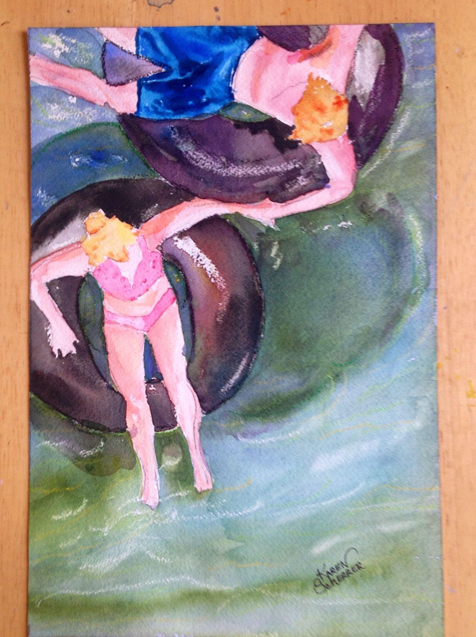 Watercolor artists in texas -  First Date By Texas Watercolor Artist Karen Scherrer