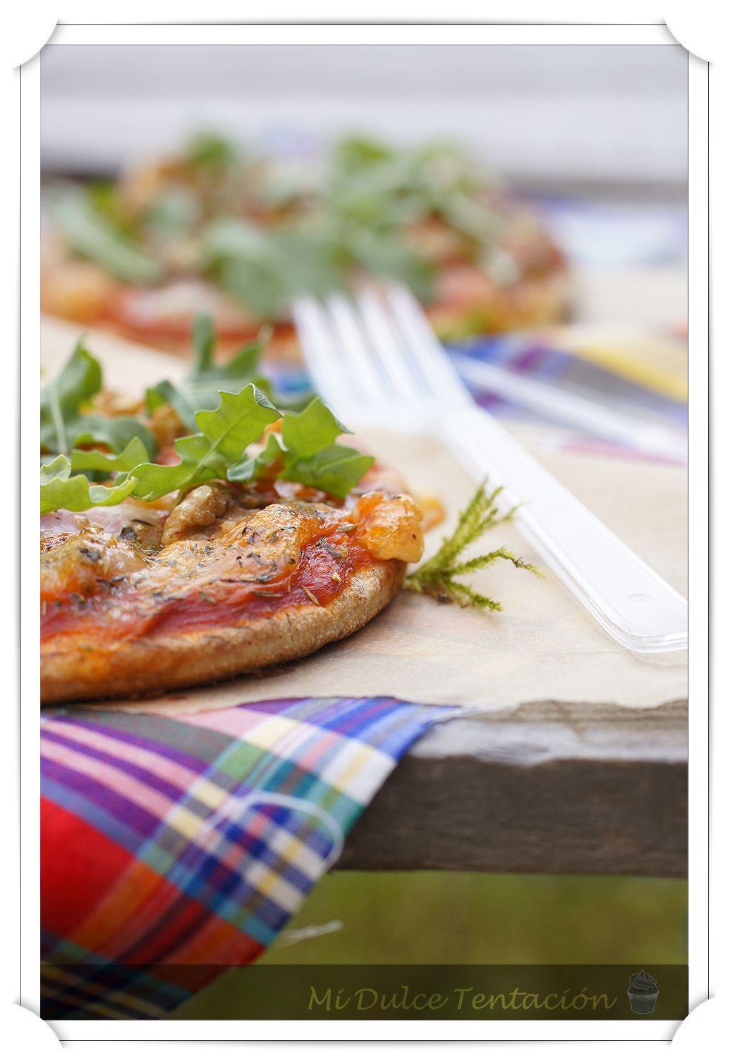 Mi dulce tentación: Minipizzas de Bacon y Rúcula