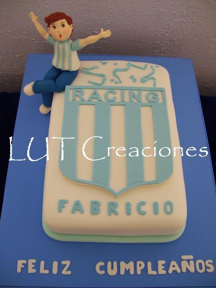 Torta Decorada Racing Club Tortas De Cumpleaños Equipos De