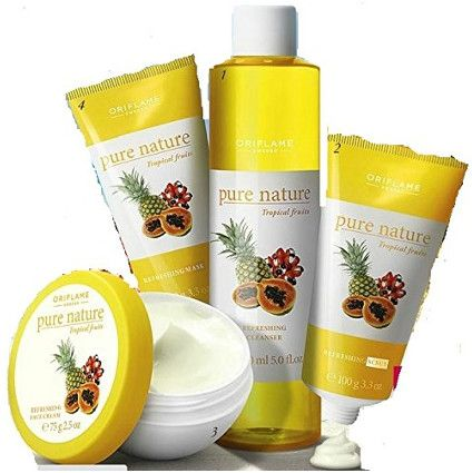Best Fairness Facial Kit Shop Oriflame Pure Nature Facial Kit For Normal To Dry Skin Tropical Fruits 4pcs Online Pure Products Tropical Fruits Buy Cosmetics