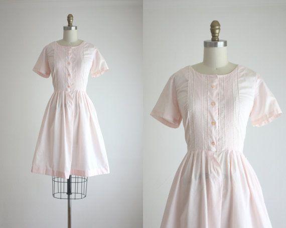 1950s blush lace dress by 1919vintage on Etsy