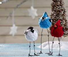 DIY Felt Birds - These are just awesome!