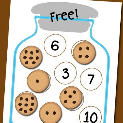 Cookie Jar Number Matching Free Printable | Math | Pinterest ...