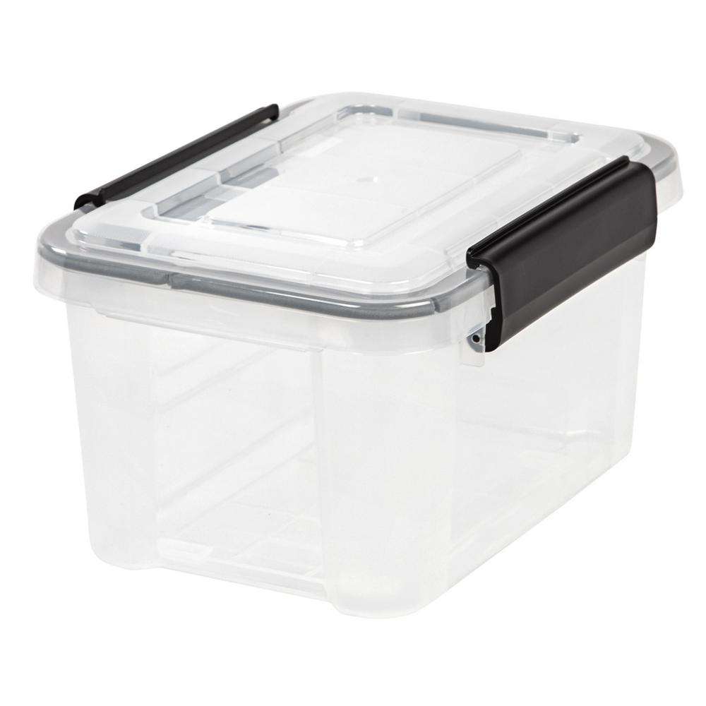 Iris 6 5 Qt Weathertight Storage Box In Clear Plastic Box