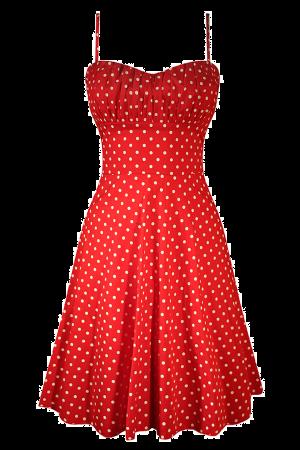 Swing damen cocktailkleid mit polka dots