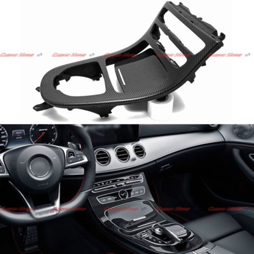 2 Pcs Replaced For Mercedes W213 Carbon Fiber Console Gear Panel