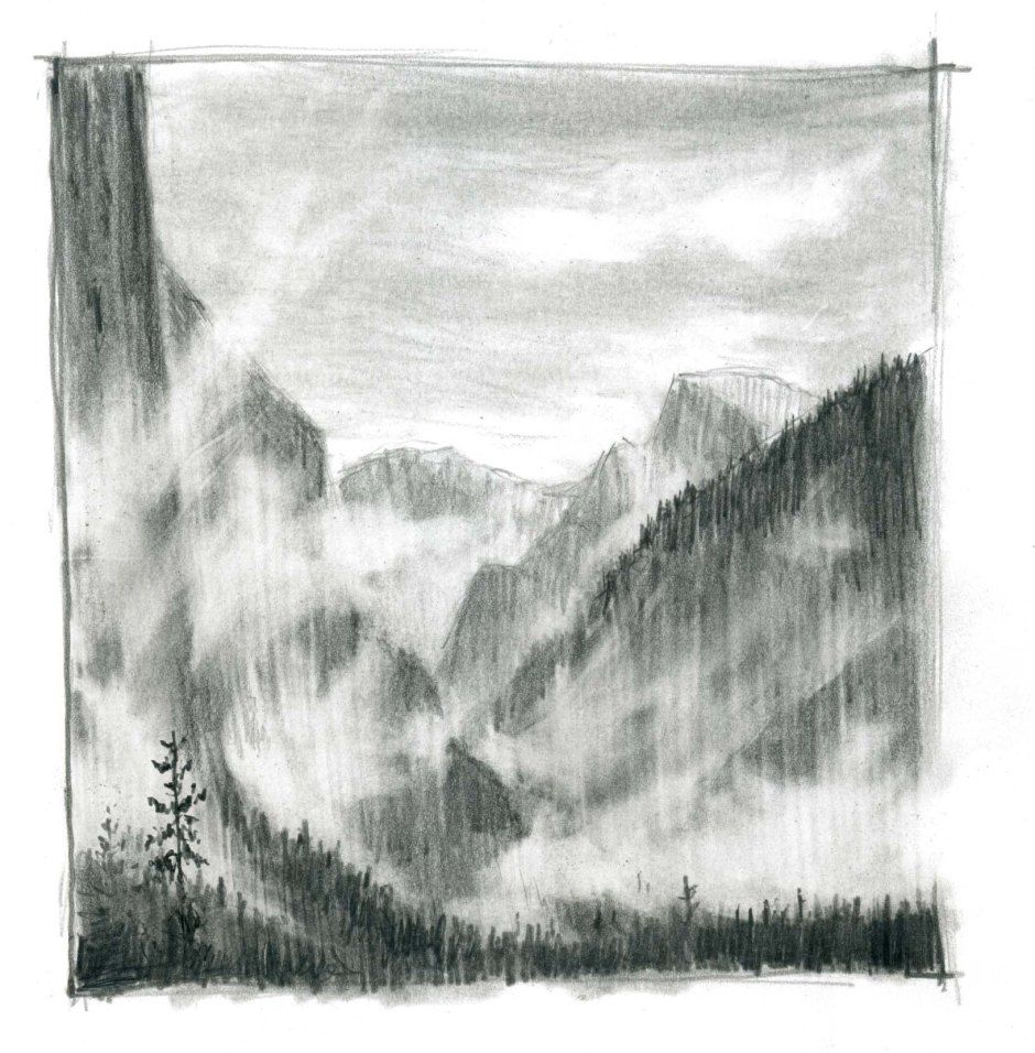Drawing Rising Mist With Graphite Pencil Mists Pencil Art Picture Drawings