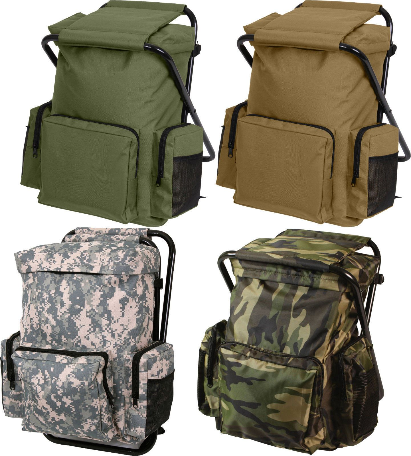 Backpack And Stool Combo Pack Hiking Camping Backpack