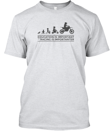 Motocross Casual Tee | Funny Quotes