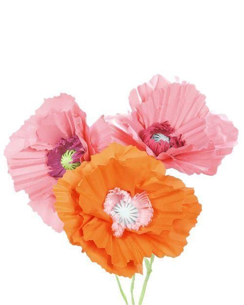 Giant Paper Poppy Flower Decoration - Martha Stewart Crafts