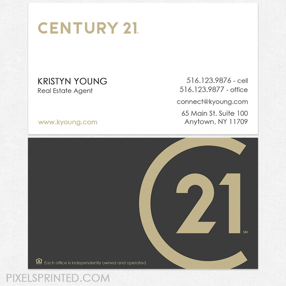 no photo Century 21 business cards Realtor business