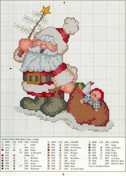 patrones de punto de cruz navidad gratis para imprimir - Google ...