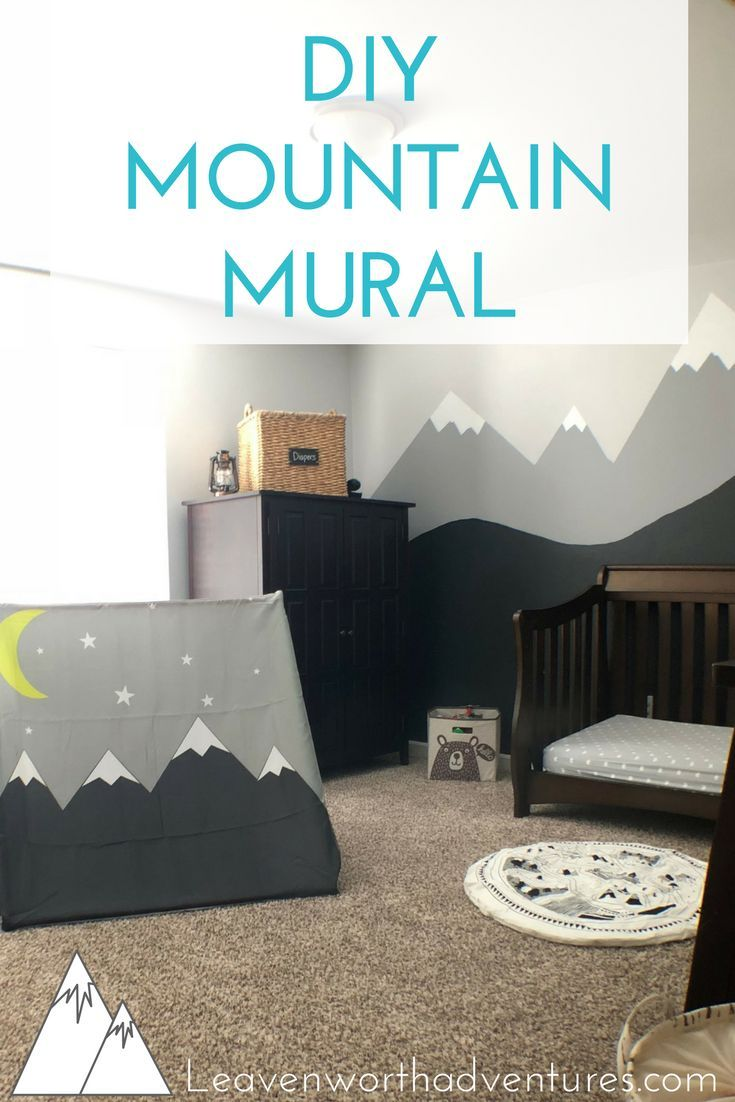 Diy Mountain Mural Leavenworth Adventures Health Wellness Mountain Mural Outdoor Adventure Nursery Adventure Nursery