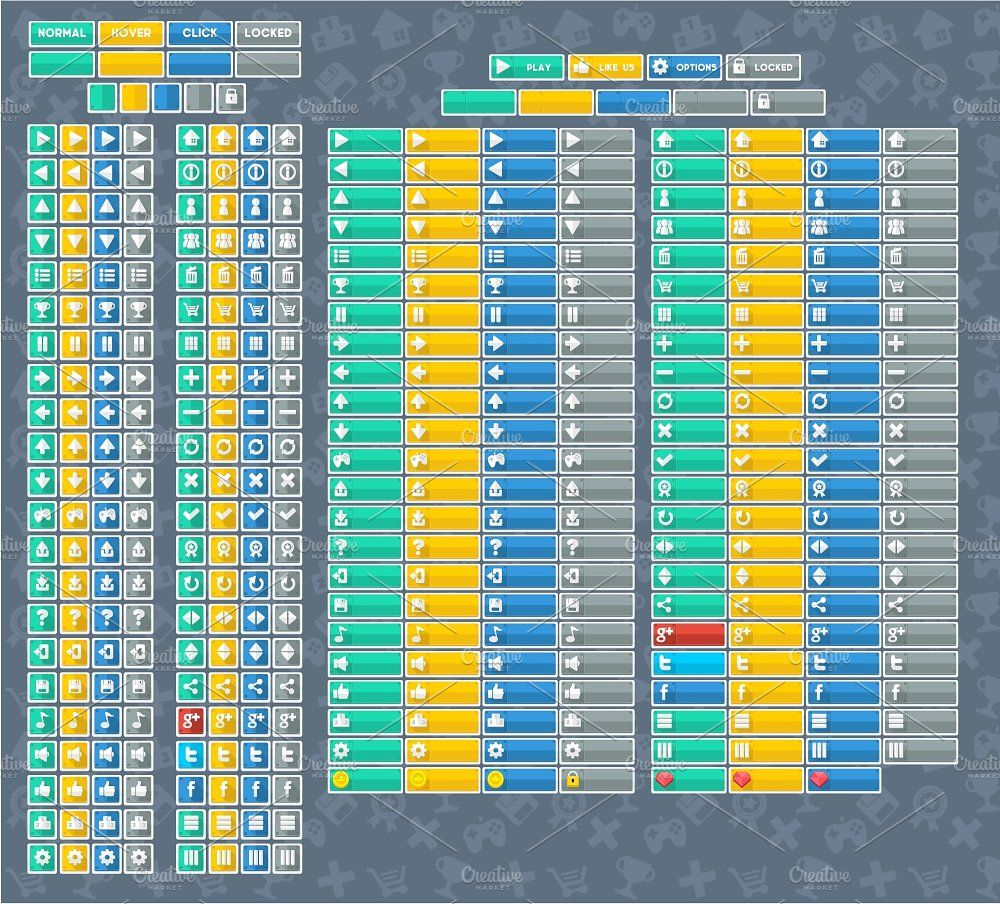 Minimalist Game GUI Game gui, Minimalist icons, Flyer