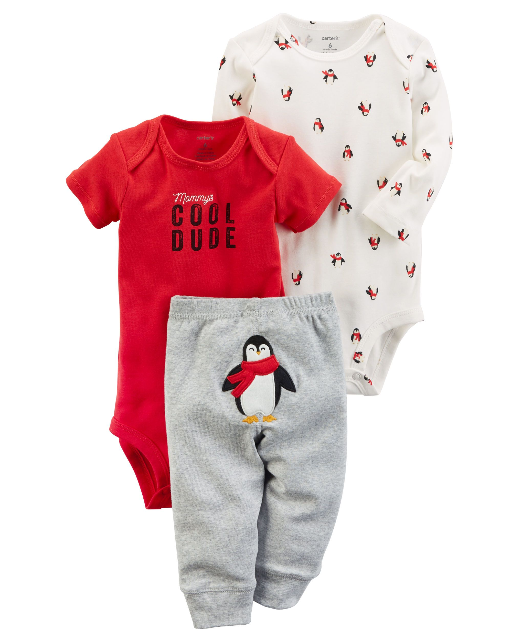 c5ed65d00d70 Featuring a cute little penguin on the bottom and two coordinating bodysuits