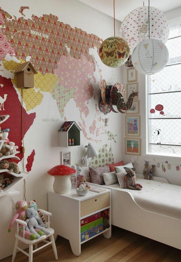 Kinderzimmergestaltung 70 ideen f r originelle und einfallsreiche einrichtungen kinderzimmer - Originelle wandgestaltung ...