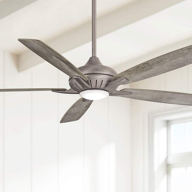 60 Minka Aire Dyno Xl Smart Fan Nickel Led Ceiling Fan 67y28 Lamps Plus In 2020 Led Ceiling Fan Ceiling Fan Gold Ceiling Fan