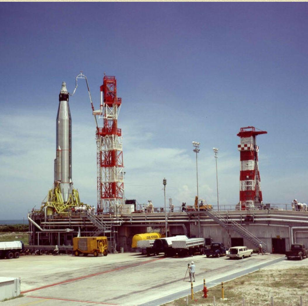 Scott Carpenter Aurora 7 Mercury Atlas rocket Mercury Program 8X12 PHOTOGRAPH