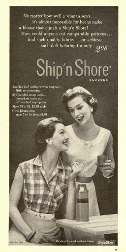 1954 Ship N Shore Blouses Fashion 1950s Pinterest Retro
