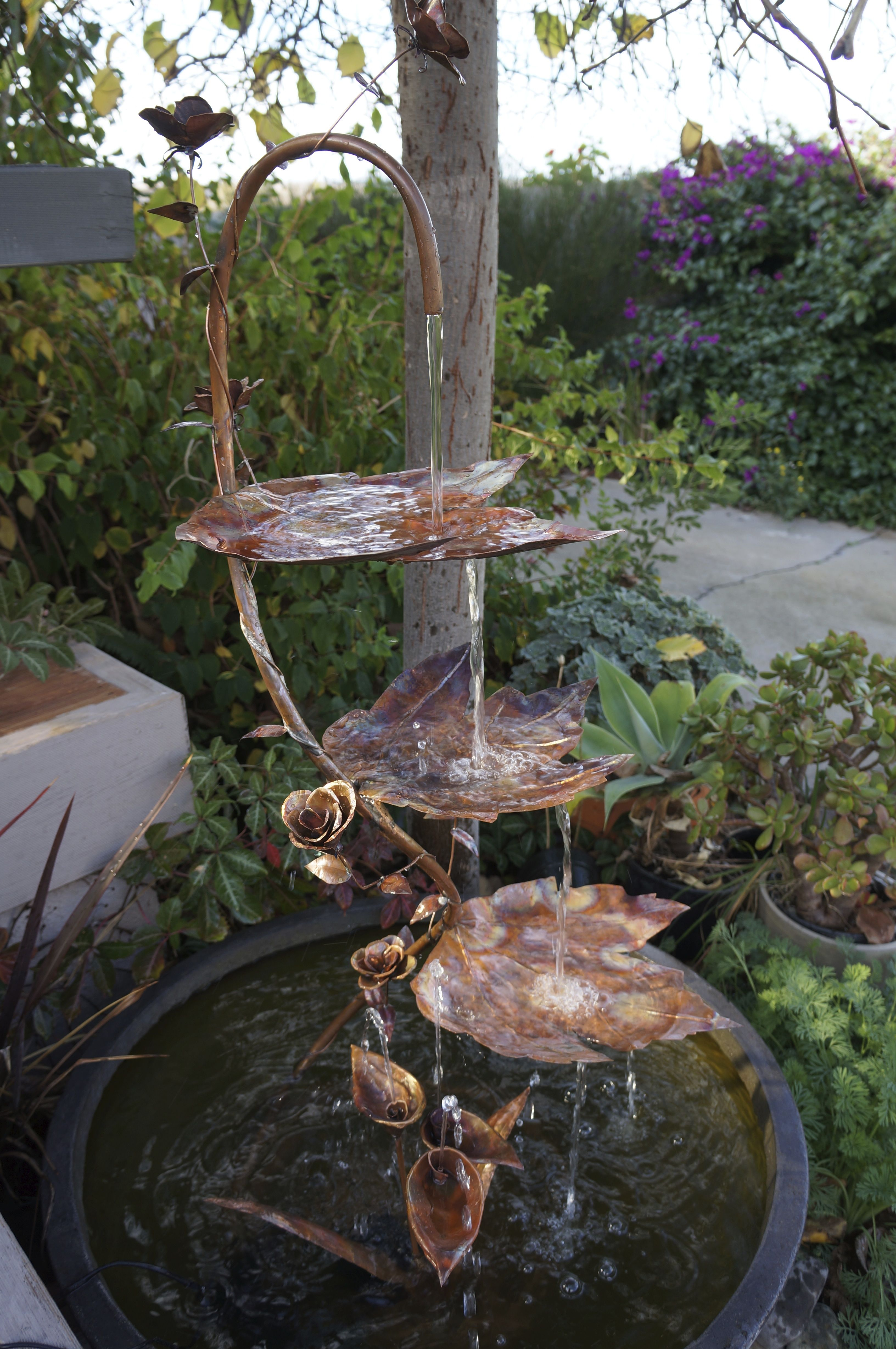 Hand Crafted Copper Water Features Water Features Diy Water Feature Water Features In The Garden