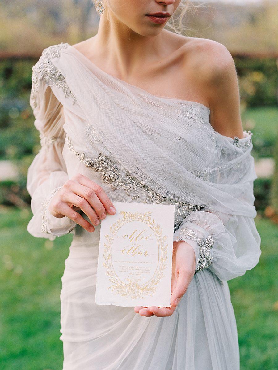 Luxurious parisian wedding inspiration wedding dress u bridal