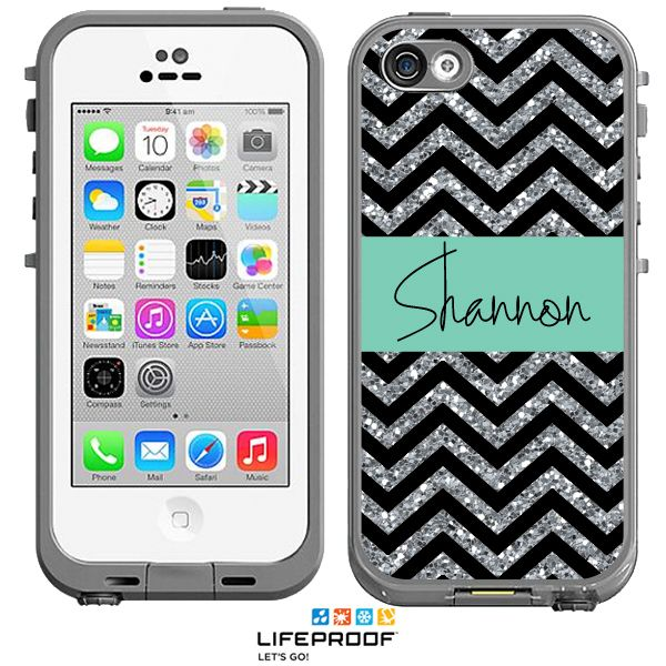 waterproof iphone 5c case glitter chevron monogrammed lifeproof 174 frē iphone 5c 16461