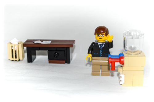 LEGO Furniture: Office Set Collection - Desk, Water Cooler, Trash ...