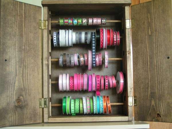 Scraproom: Ribbon Storage Cabinet-inside