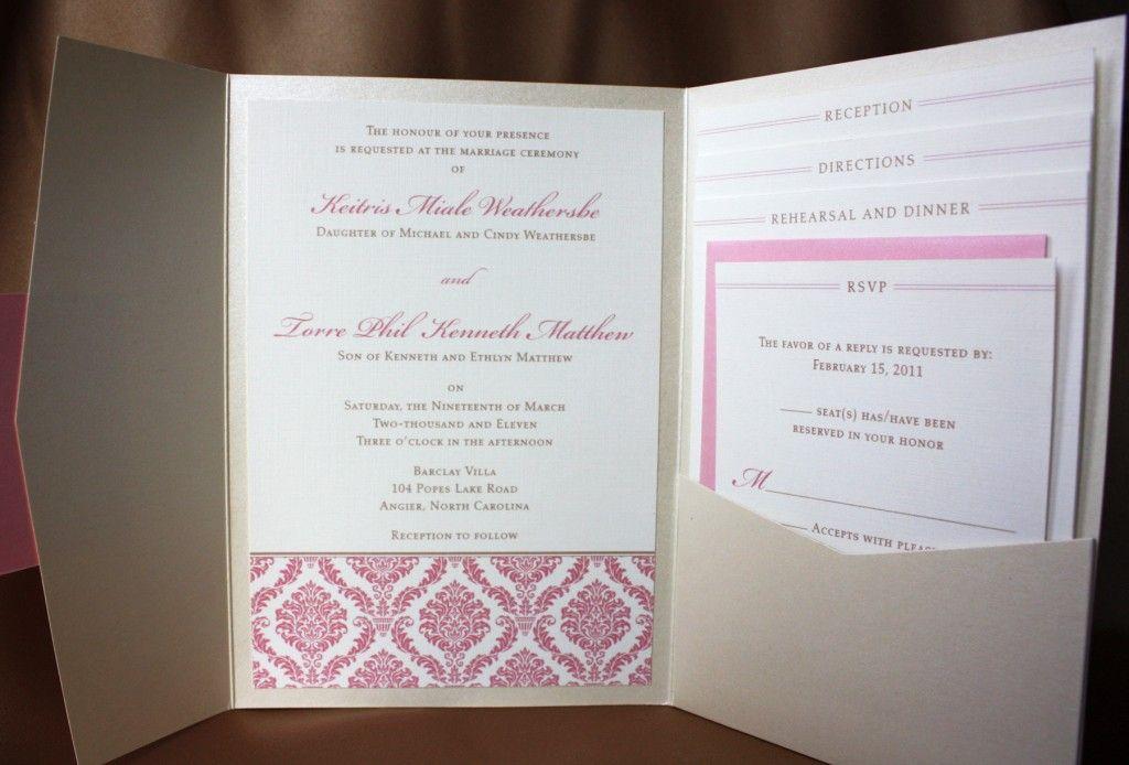 damask wedding invitations | ... Invitations | emDOTzee Designs Blog ...