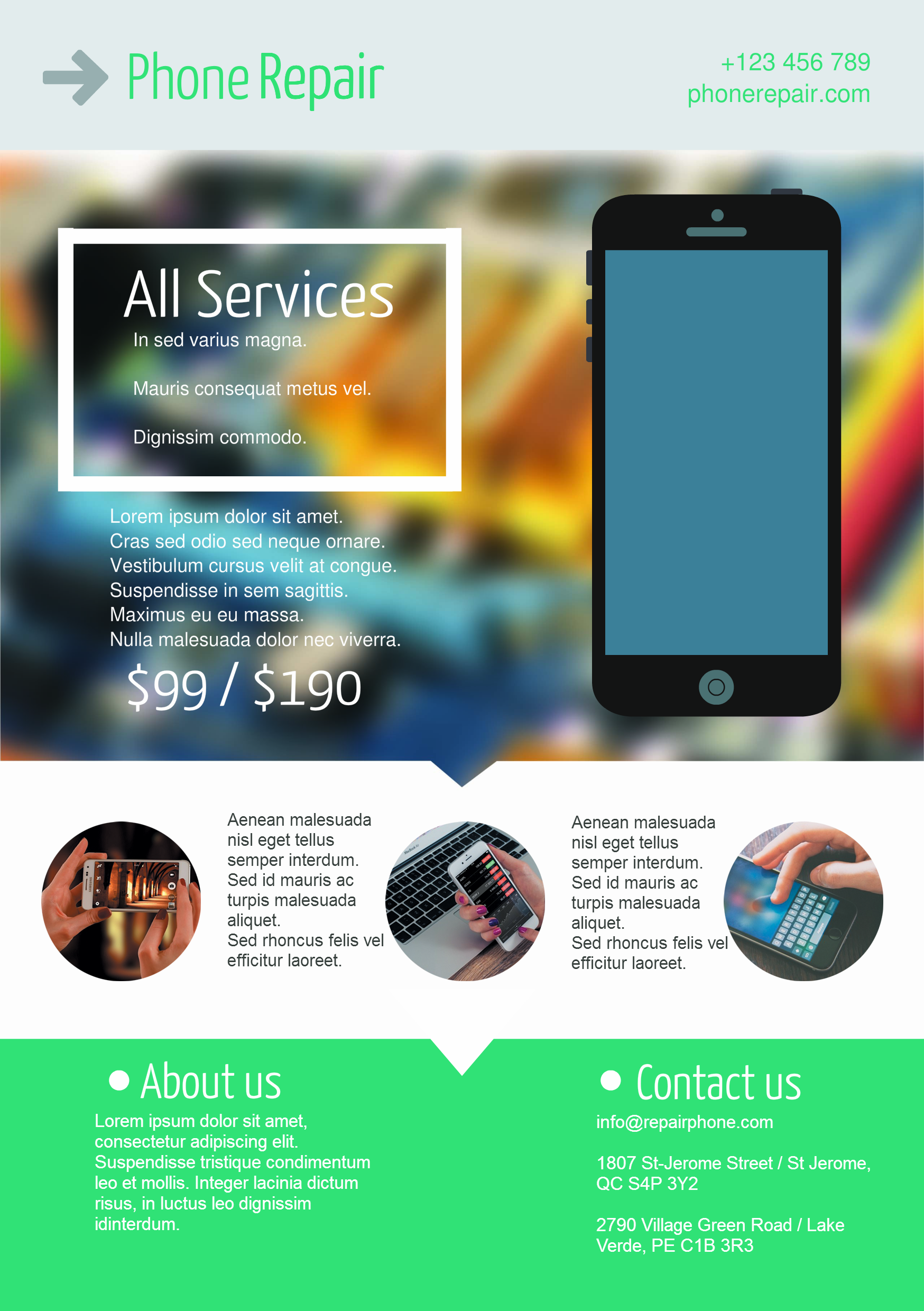 Mobile Phone Service A Promotional Flyer HttpPremadevideos