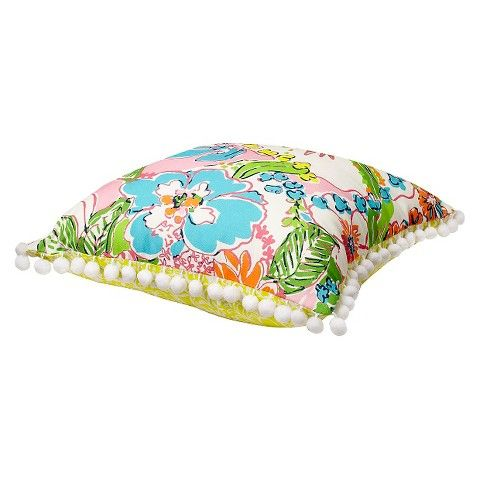 Lilly Pulitzer for Target Reversible Decorative Pillow - Nosie Posey and Boardwalk Café
