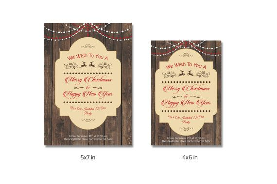 Christmas Invitation Template Holiday Invitation by TemplateStock