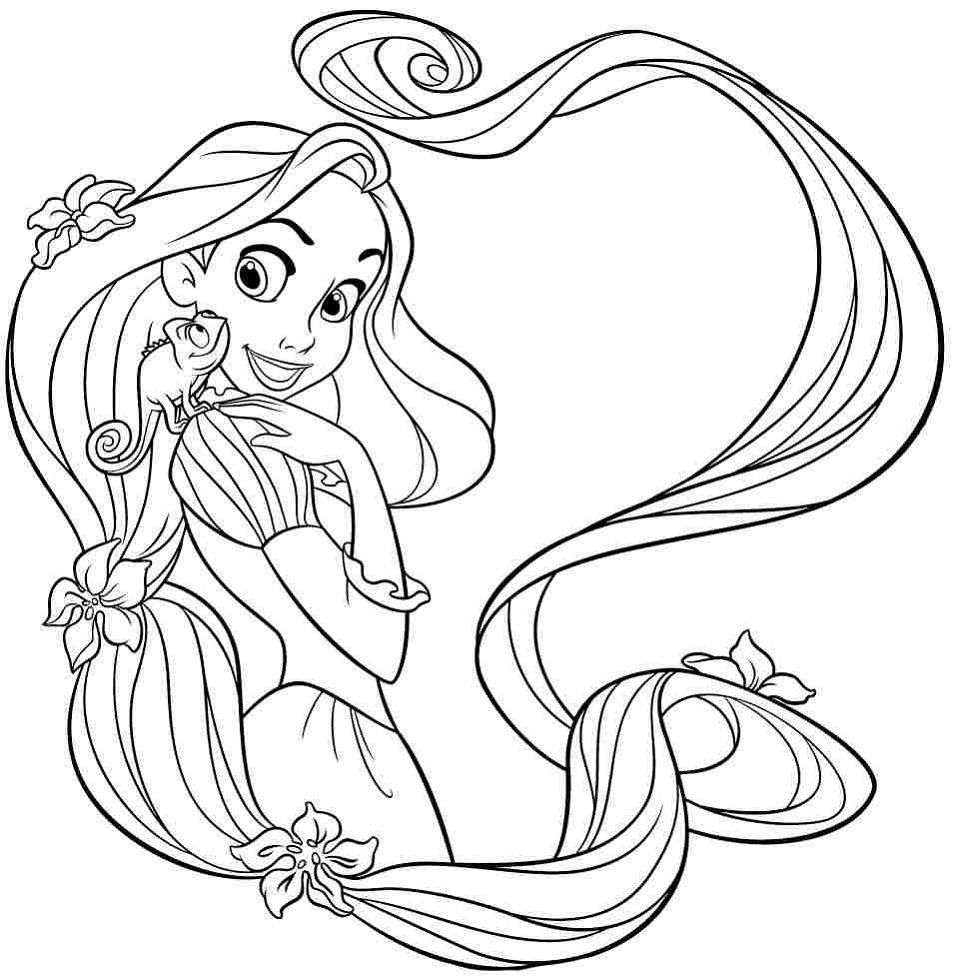 Rapunzel Color Pages In 2020 Rapunzel Coloring Pages Princess